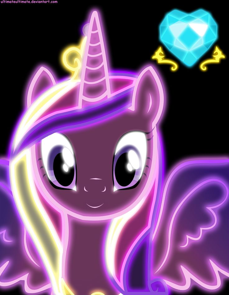 Neon Princess Cadence by ZantyARZ.deviantart.com on @deviantART