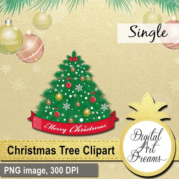 Christmas Tree Clipart Decorated Xmas Tree PNG Holiday