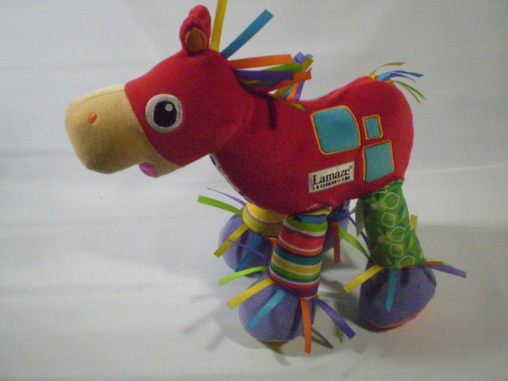 Learning Curve Lamaze Rainbow Color Pony Stuffed Plush Horse Sound Bean Bag    #LearningCurve