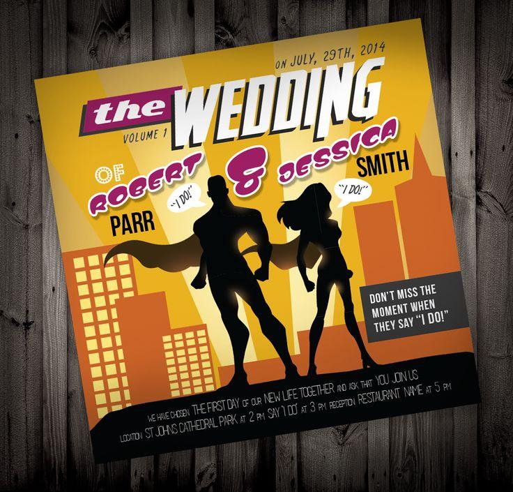 83 best superhero weddings <3 images on pinterest | marriage, Wedding invitations