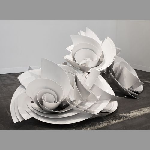 Alice Aycock - Sculpture A (Component #1) for Park Avenue Paper Chase 2014, 2012.  Aluminum