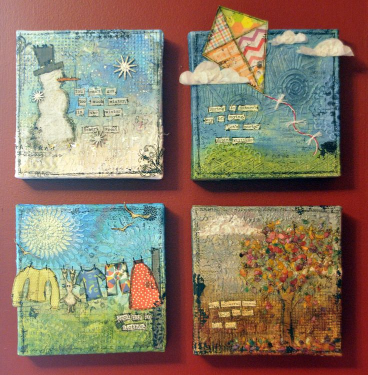 Note the textures….. A Year Of Canvas by Sarah Case