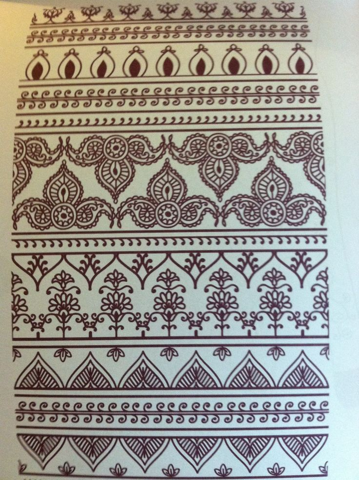 mehndi designs: borders