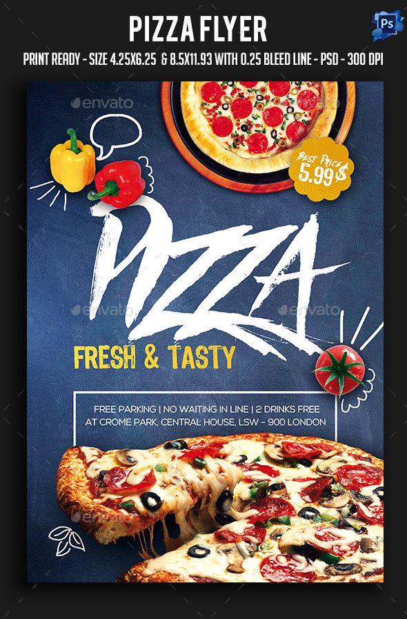 Pizza Flyer Template PSD