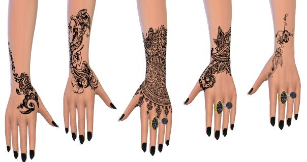 My Sims 4 Blog: Henna Tattoos by GeorgeCeline
