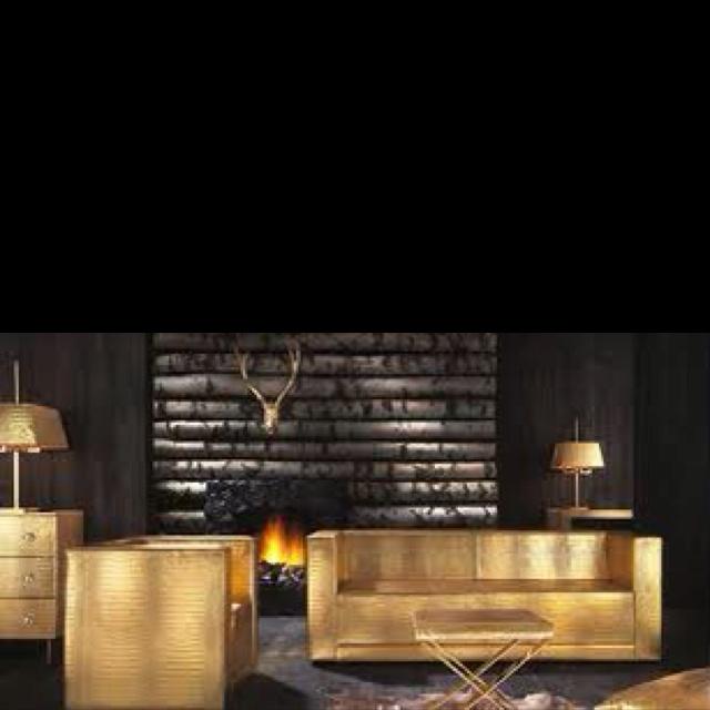 Interesting gold furniture
