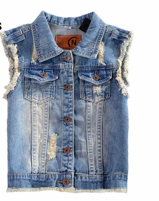 Ripped Country Womens Denim Vest