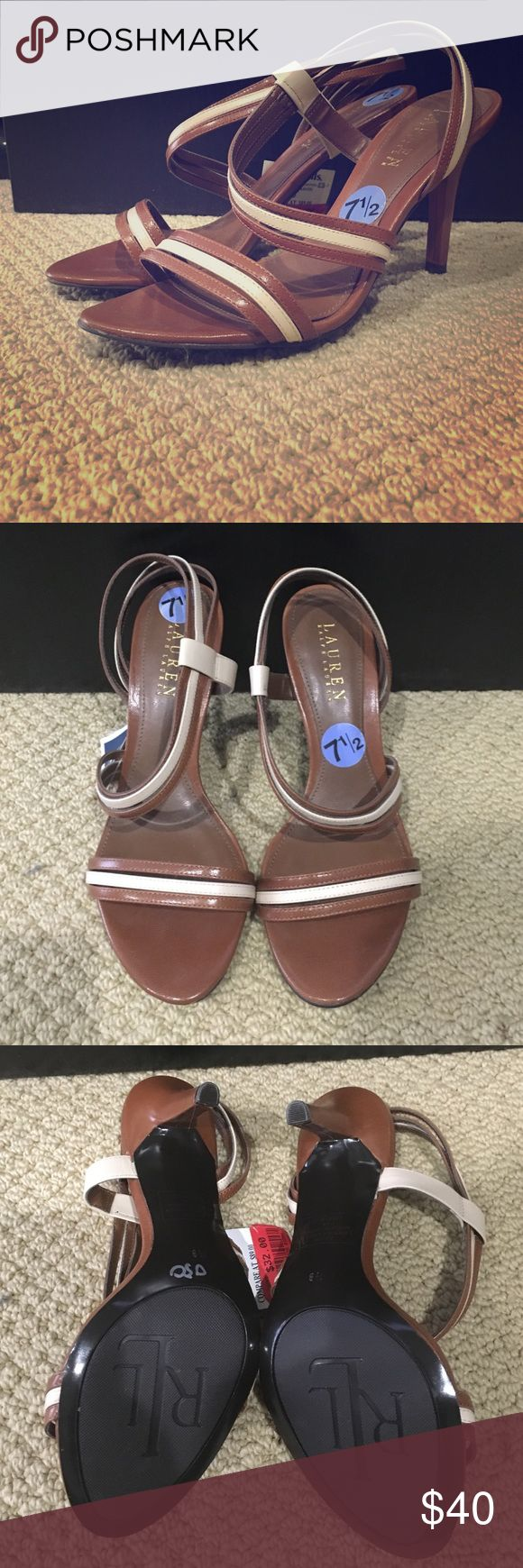 """Ralph Lauren Addie slingback sandal Brand new never been worn Ralph Lauren Addie sandal with 3.5"""" heel. Extremely comfortable, neutral sandal that will go with anything. Perfect for weddings, parties or night out! Lauren Ralph Lauren Shoes Sandals"""