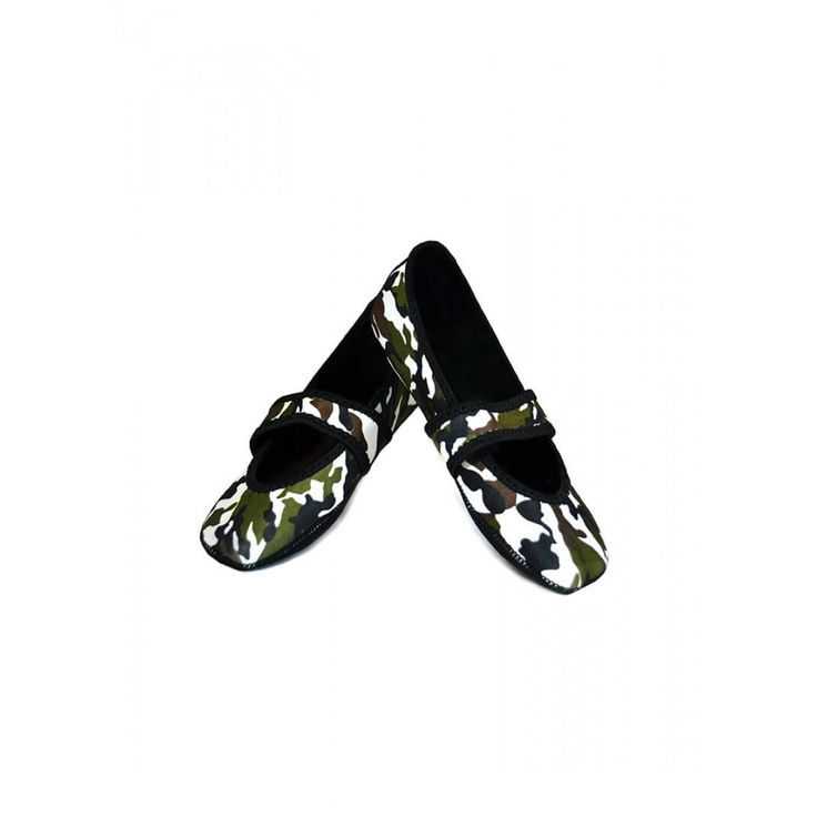 GREEN CAMOUFLAGE BETSY LOU NUFOOT