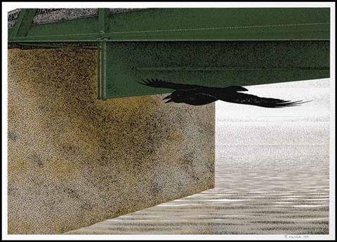 Bridge and Raven by David Alexander Colville
