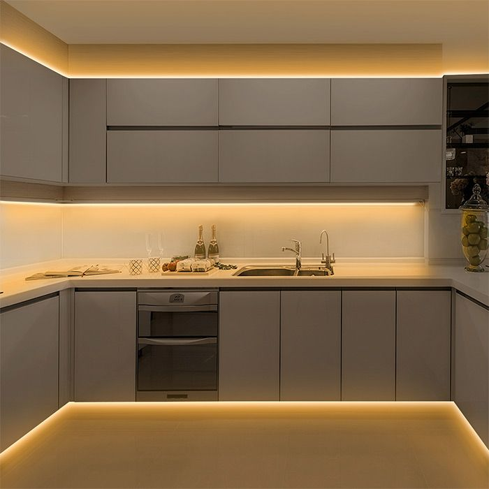 How To Choose And Install Led Strip Lights For Kitchen Cabinets In 2021 Kitchen Interior Design Modern Installing Kitchen Cabinets Kitchen Cupboard Designs