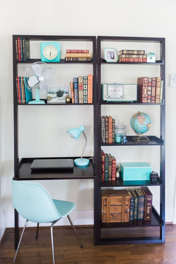 best 20 bookshelf desk ideas on pinterest desks for small spaces small desks and ikea desk top. Black Bedroom Furniture Sets. Home Design Ideas