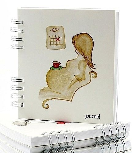 Blank Pregnancy Journal    'Counting Days' by BaldiBearART. I should probably do something like this
