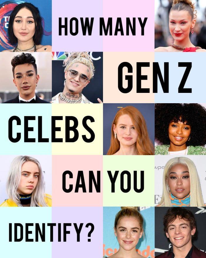 How Many Gen Z Celebrities Can You Identify Celebrity Quizzes Movie Quizzes Dance Moms Quizzes
