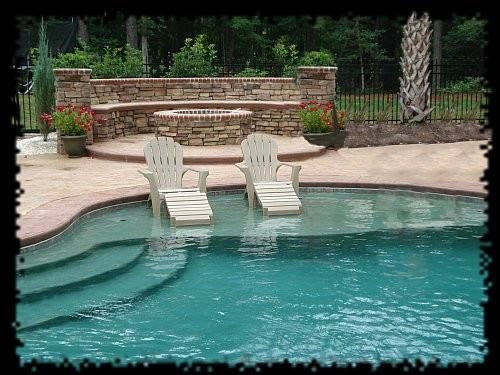 Inground pool with tanning ledge!!