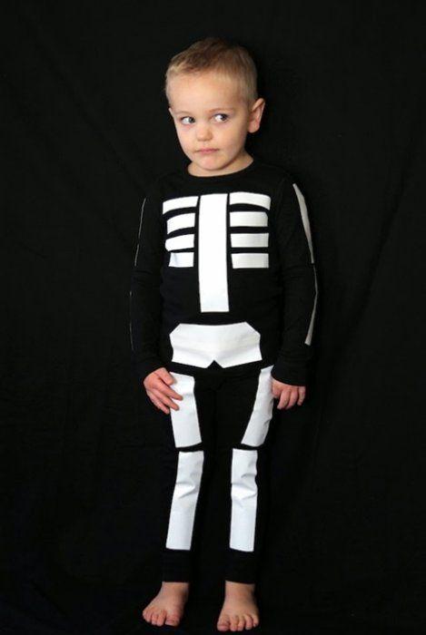 skjellettkostyme, kostyme til barn, gutt, halloween, lage selv, karneval