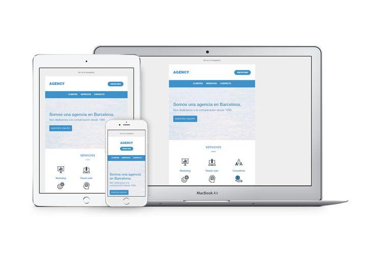 Echa un vistazo a nuestras nuevas #plantillas de email #marketing corporativo y #responsive para descargar