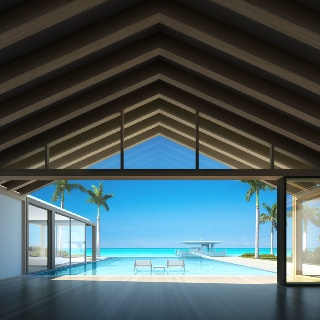 SHIGERU Ban Villa for Dellis Cay developed by Cem Kinay