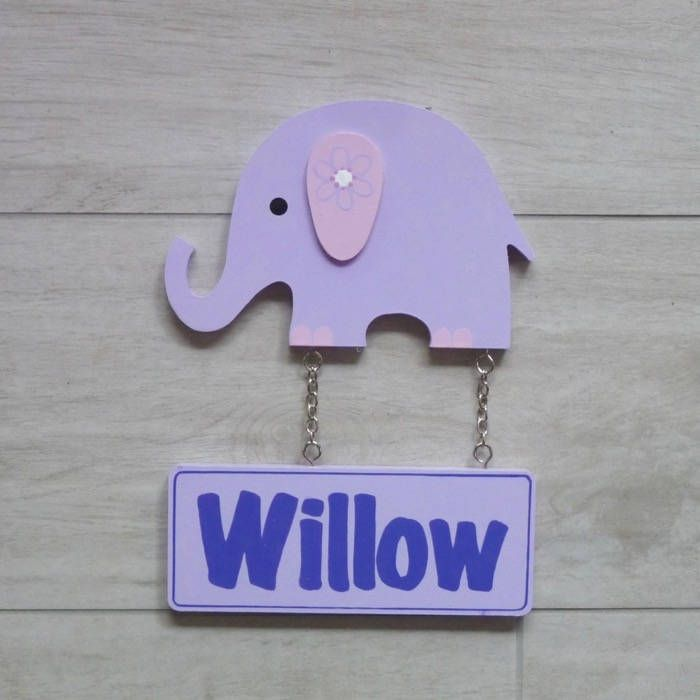 Door signs for kids Wooden name signs Name plaques Custom