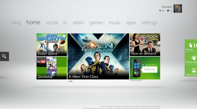 Another X-Box UI