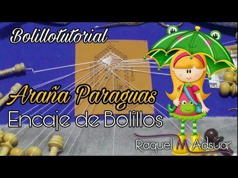 Araña Paraguas de Encaje. 2 Modelos. Bolillotutorial Raquel M. Adsuar - YouTube