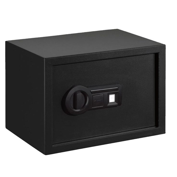 Stack-On Personal Safe Biometric Lock with Shelf Black - PS-15-10-B