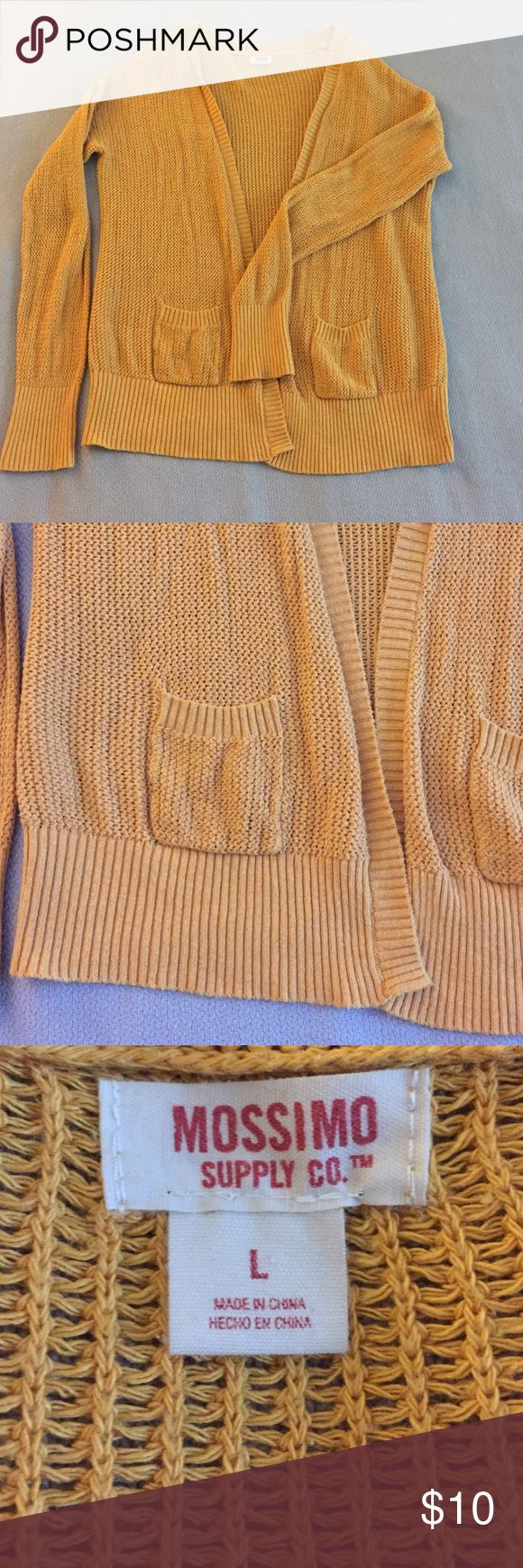Mustard Yellow Cardigan Mustard yellow cardigan. Two small pockets. Cozy! Mossimo Supply Co Sweaters Cardigans