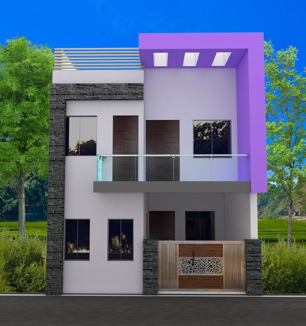 20x60 House Plan With 3d Elevation By Nikshail Small House Elevation House Plans Duplex House Design