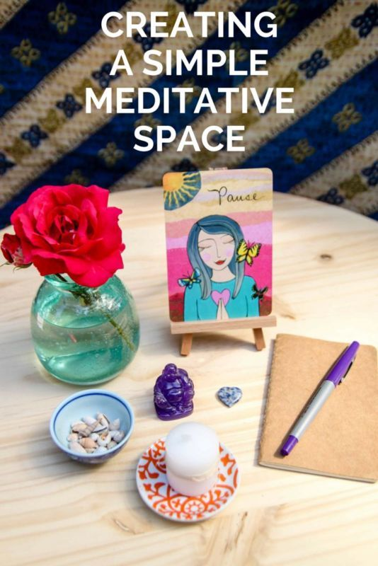 Creating a Simple Meditative Space :: Seven items to gather to get you started. #spon
