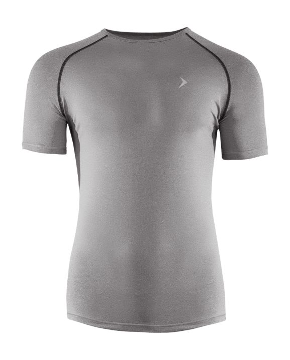 Men's fitness shirt with Dry System technology, responsible for the quick moisture absorption  during exercise. Made of breathable, elastic fabric, designed to provide you comfort in every situation.   Benefits: -reflective elements, increasing visibility -tailored cut will underline your shapes -soft touch fabric