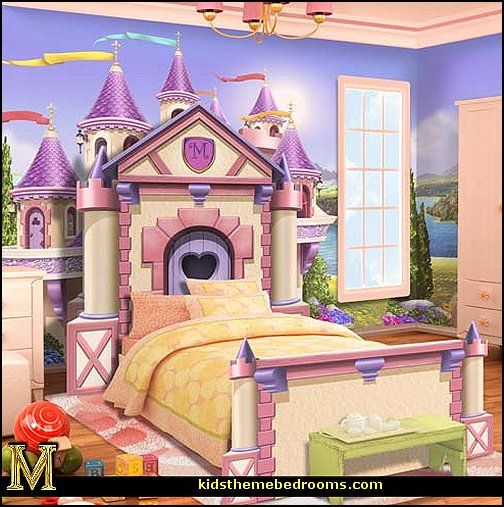 1070 best kids room images on pinterest for Princess themed bed