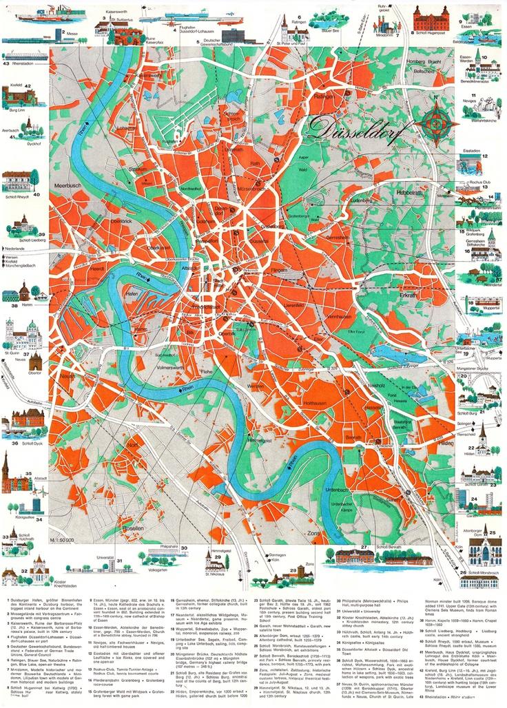 Dusseldorf citymap