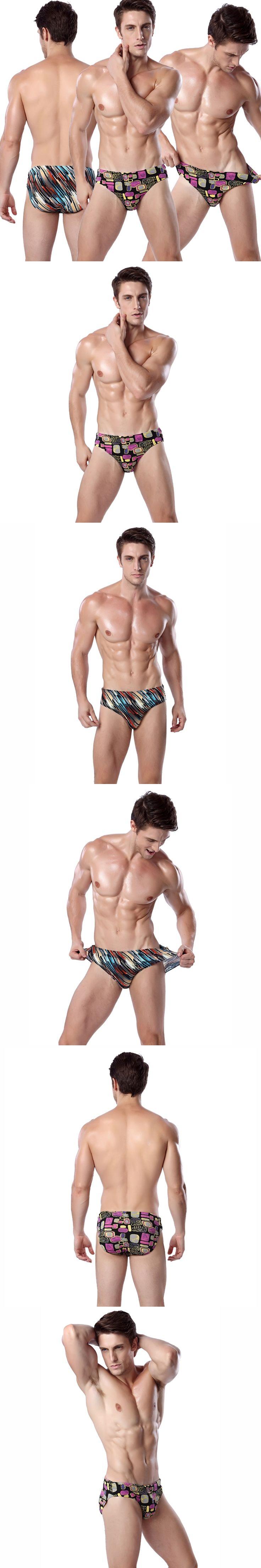 Classic Design Mens Swimming Shorts 2017 Plus Size 3XL European Swimwear for Men Vintage Prints Mens Bathing Shorts