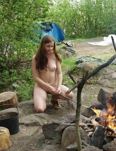 Nude girl in camper mistaken