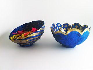 charm & confetti: diy - tiny paper mache bowls
