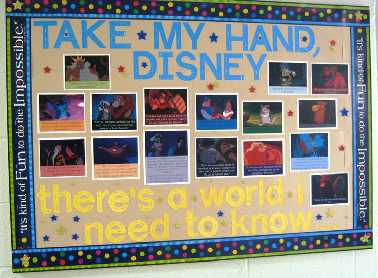 Resident Assistant College Bulletin Board Disney Life Lessons