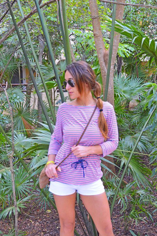 Shirt H&M, Shorts Zara