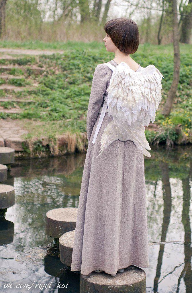 Рюкзак - Белые крылья. Войлок и авторские куклы Ольги Котовой