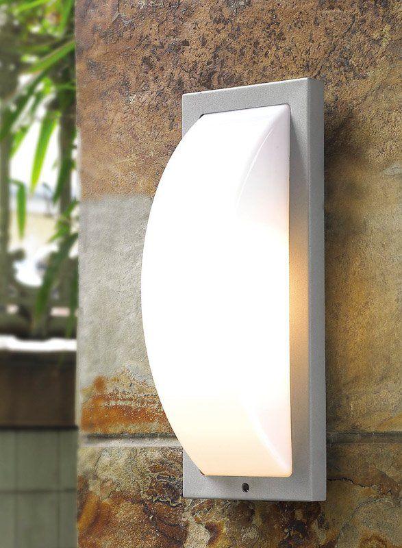 Kinkiet lampa oprawa ścienna Italux Alacant 1x60W E27 srebrny #kinkiety #lampaogrodowa #ogrod #italux #italuxalacant