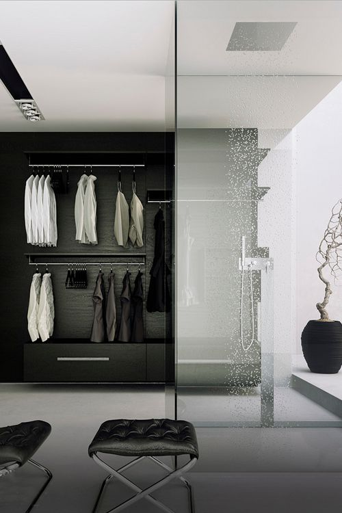 3559 best ideas about walk in shower enclosures on for Bathroom with walk in closet designs