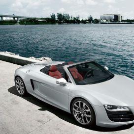 Audi R Spyder White Wallpaper