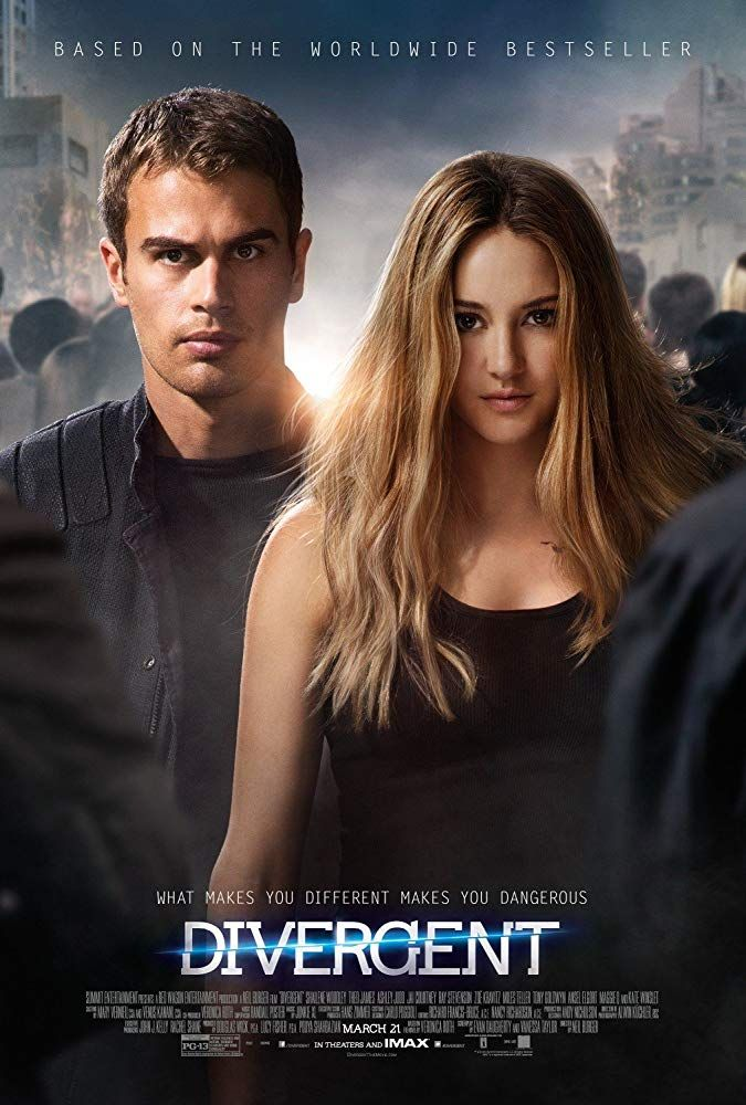 Shailene Woodley And Theo James In Divergent 2014 Divergent Movie Poster Divergent Movie Divergent Poster