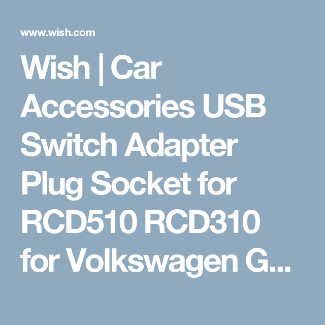 Wish | Car Accessories USB Switch Adapter Plug Socket for RCD510 RCD310 for Volkswagen GOLF MK6 BORA W4E4M7L0 (Farba: Čierna)