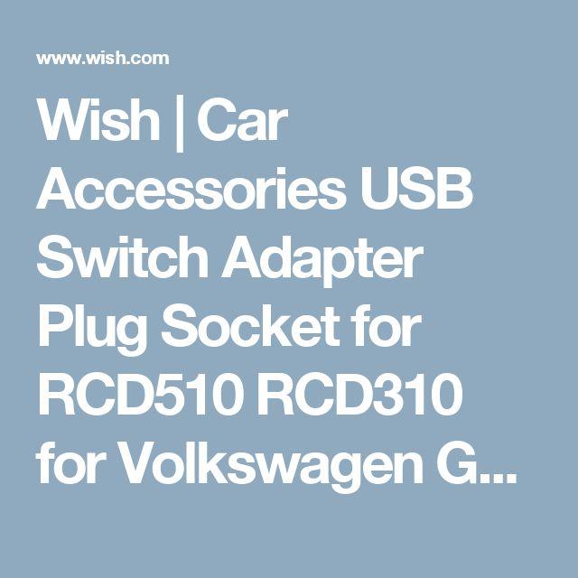 Wish | Car Accessories USB Switch Adapter Plug Socket for RCD510 RCD310 for Volkswagen GOLF MK6 BORA W4E4M7L0 (Farba: Čierna)