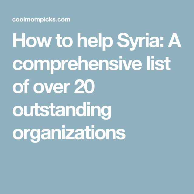 How to help Syria: A comprehensive list of over 20 outstanding organizations