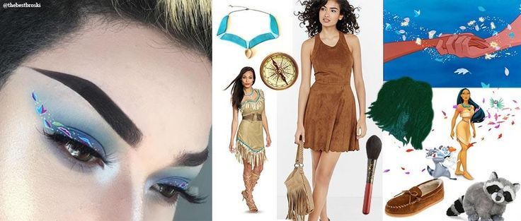Pocahontas Makeup Style Costume. Colors of the Wind Makeup. By TheBestBroski. Costume idea by Keller International