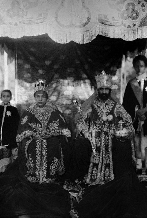 Empress Menen + HIM Haile Selassie