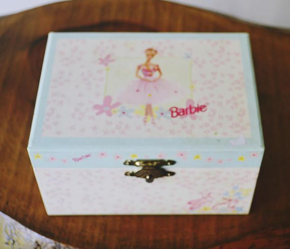 Check out this item in my Etsy shop https://www.etsy.com/ca/listing/544896588/ballerina-barbie-musical-jewelry-box