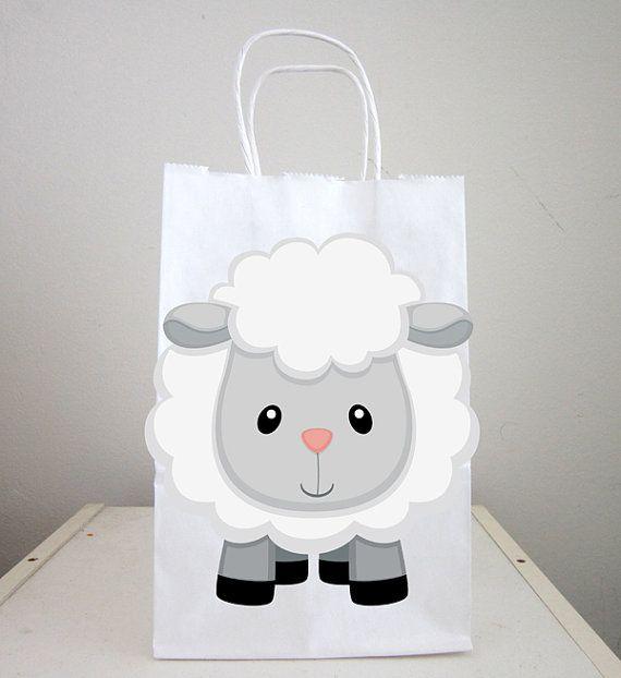 Bolsas de chuchería de ovejas ovejas Favor bolsas por CraftyCue