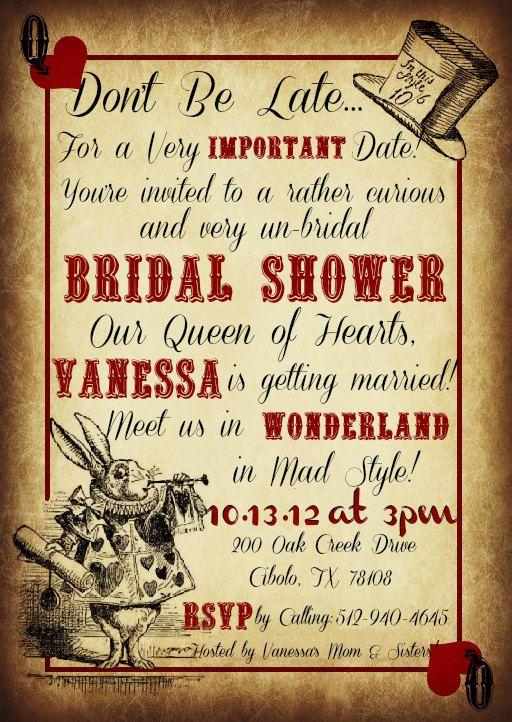 Printable Mad Hatter Tea Party Custom Invitations. $10.99, via Etsy.